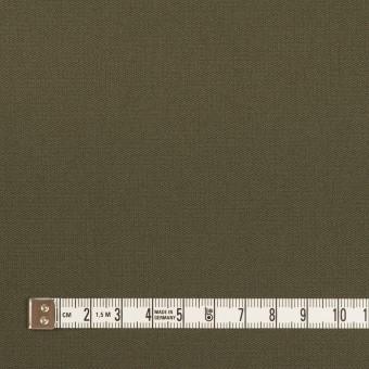 コットン&ポリウレタン×無地(ダークカーキグリーン)×二重織 サムネイル4