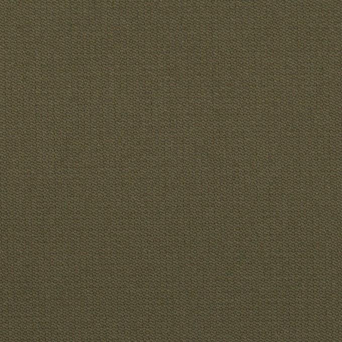 コットン&ポリウレタン×無地(ダークカーキグリーン)×二重織 イメージ1