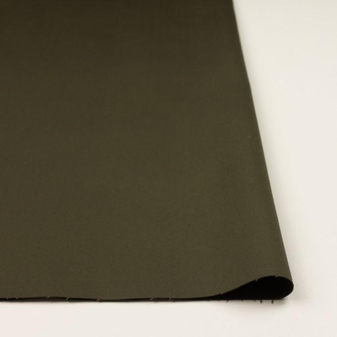 コットン×無地(ダークカーキグリーン)×サテンストレッチ イメージ3
