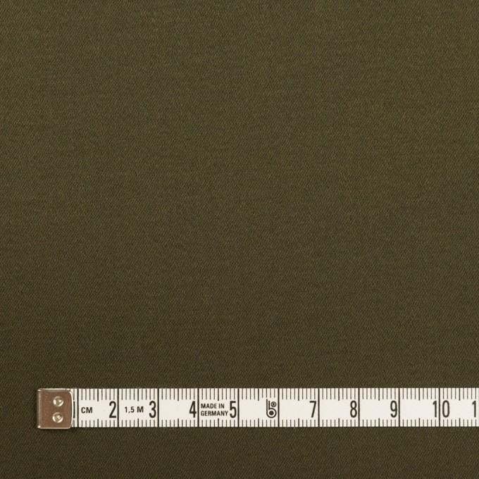 コットン×無地(ダークカーキグリーン)×サテンストレッチ イメージ4