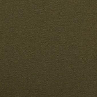 コットン×無地(ダークカーキグリーン)×サテンストレッチ
