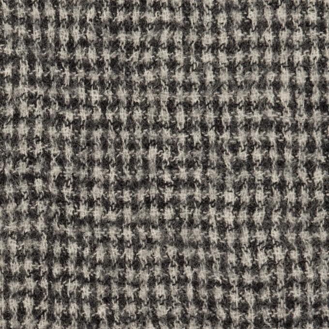 ウール×千鳥格子(オフホワイト&ブラック)×ガーゼ イメージ1