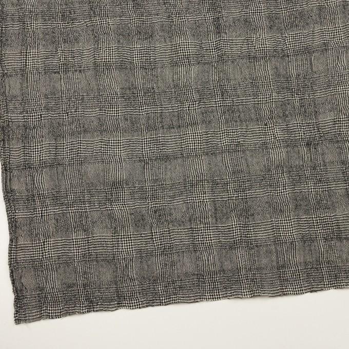 コットン&ウール×チェック(アイボリー&ブラック)×ガーゼ イメージ2