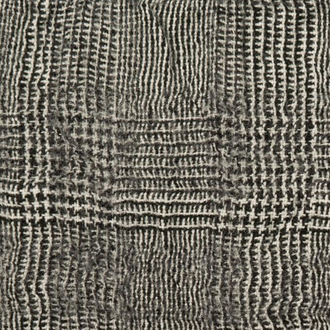 コットン&ウール×チェック(アイボリー&ブラック)×ガーゼ イメージ1