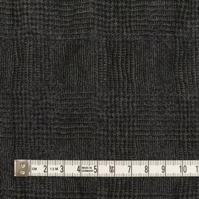 コットン&ウール×チェック(チャコール)×ガーゼ イメージ4
