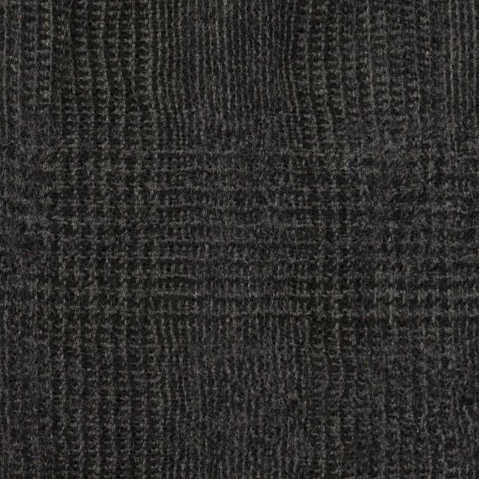 コットン&ウール×チェック(チャコール)×ガーゼ イメージ1