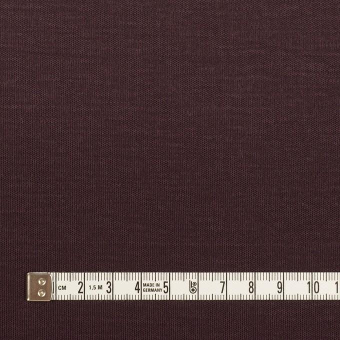 モダール&コットン×無地(レーズン)×スムースニット イメージ4
