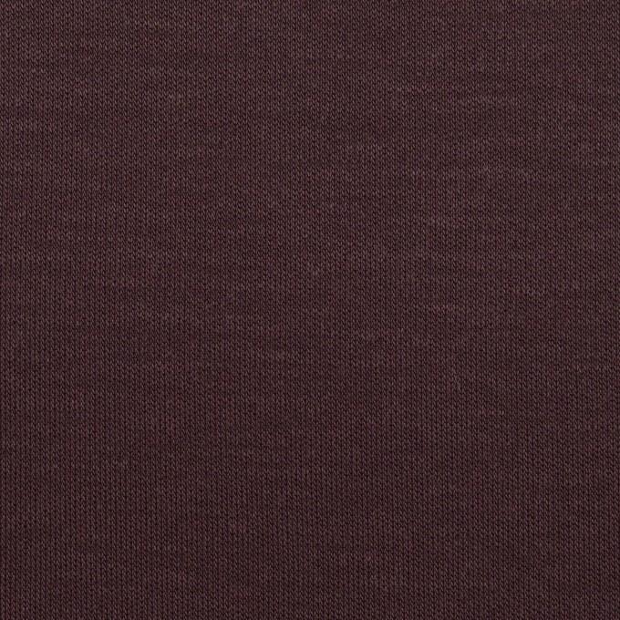 モダール&コットン×無地(レーズン)×スムースニット イメージ1