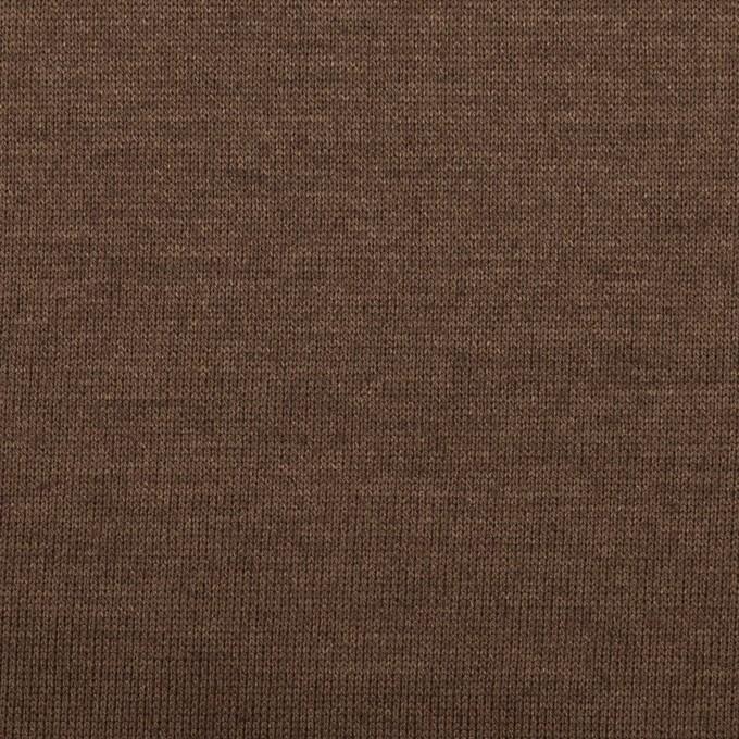 コットン&モダール×無地(ココア)×天竺ニット イメージ1