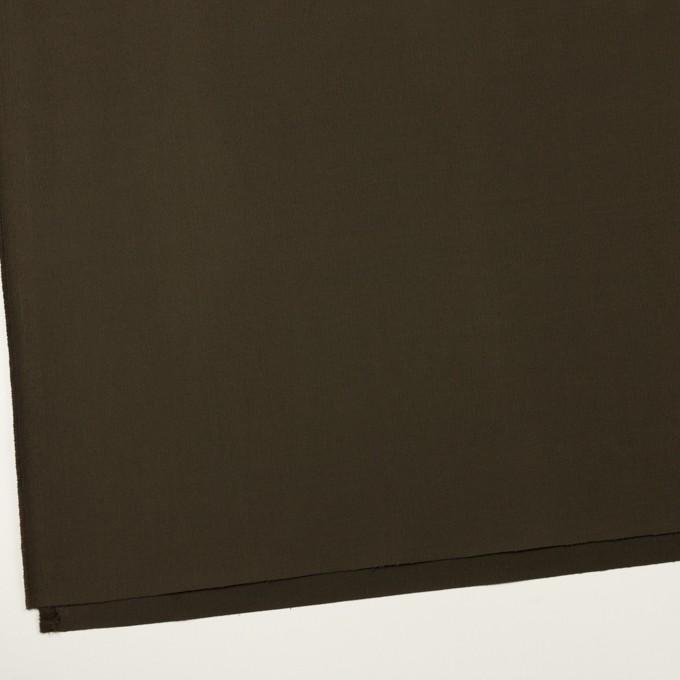 コットン×無地(ダークカーキブラウン)×グログラン イメージ2