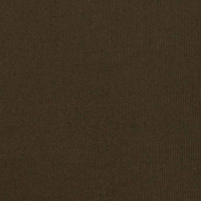 コットン×無地(ダークカーキブラウン)×グログラン イメージ1