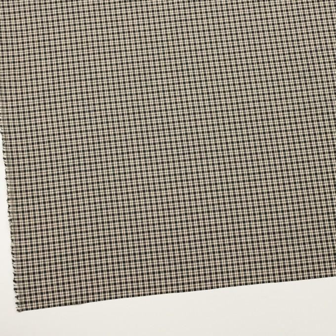 コットン×チェック(エクリュ&ブラック)×シーチング イメージ2
