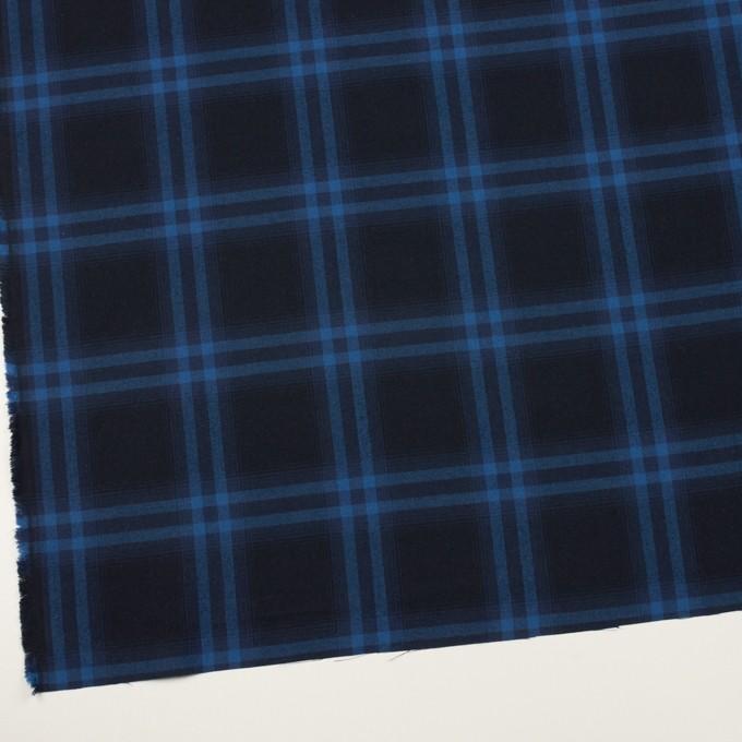 コットン×チェック(ダークネイビー&プルシアンブルー)×ビエラ イメージ2