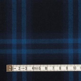コットン×チェック(ダークネイビー&プルシアンブルー)×ビエラ サムネイル4