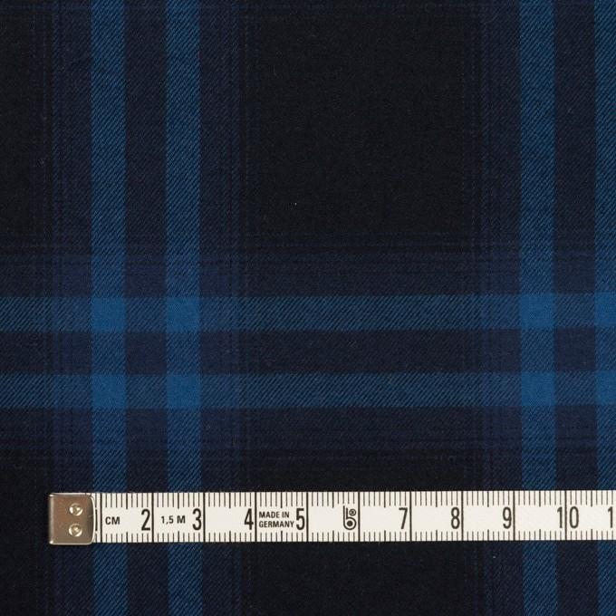 コットン×チェック(ダークネイビー&プルシアンブルー)×ビエラ イメージ4