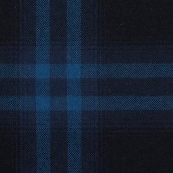 コットン×チェック(ダークネイビー&プルシアンブルー)×ビエラ