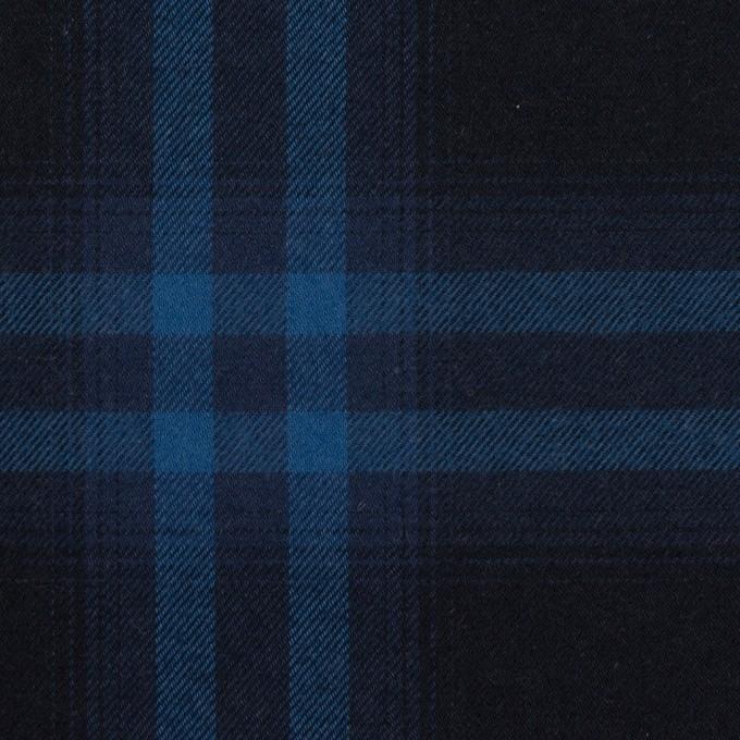 コットン×チェック(ダークネイビー&プルシアンブルー)×ビエラ イメージ1