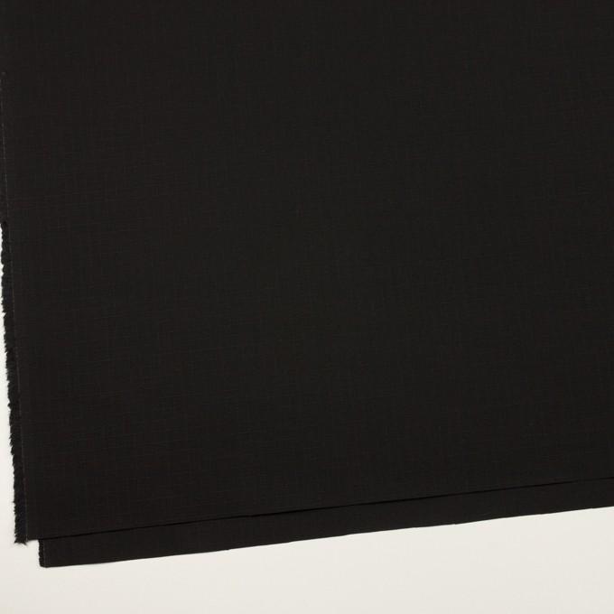 コットン×無地(ブラック)×リップストップ イメージ2