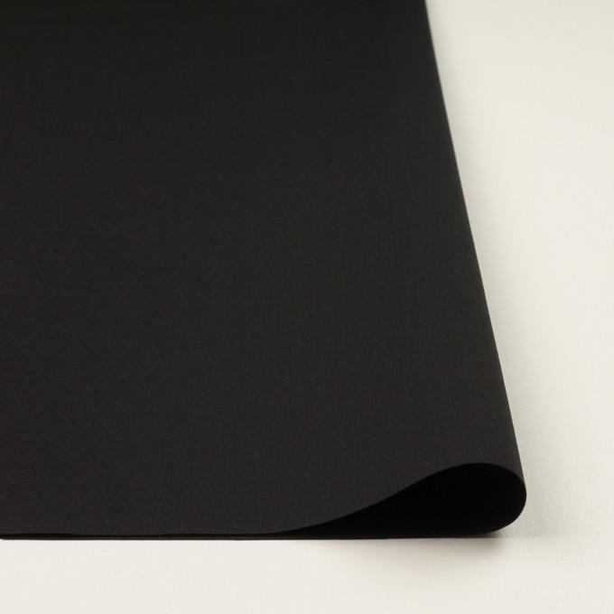 コットン×無地(ブラック)×リップストップ イメージ3