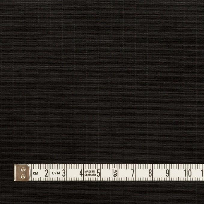 コットン×無地(ブラック)×リップストップ イメージ4