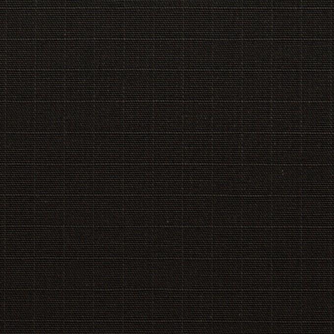 コットン×無地(ブラック)×リップストップ イメージ1
