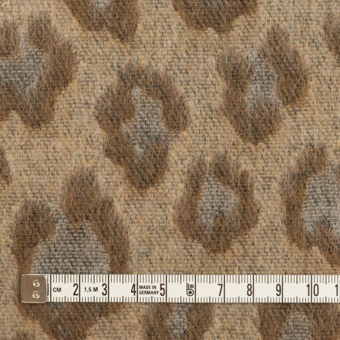 ウール&ポリエステル混×レオパード(モカブラウン)×シャギージャガード_全2色 イメージ4