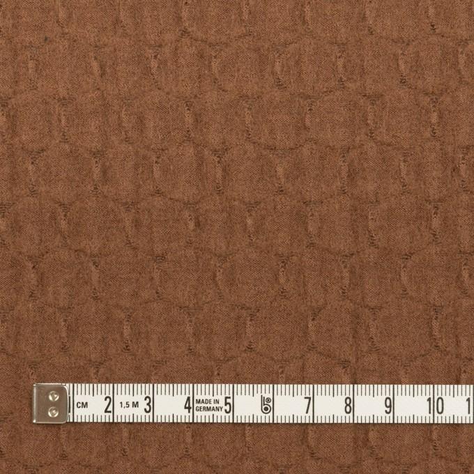 ウール×サークル(マロン)×圧縮ジャガードニット イメージ4