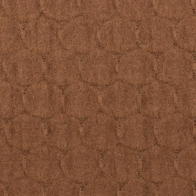 ウール×サークル(マロン)×圧縮ジャガードニット イメージ1