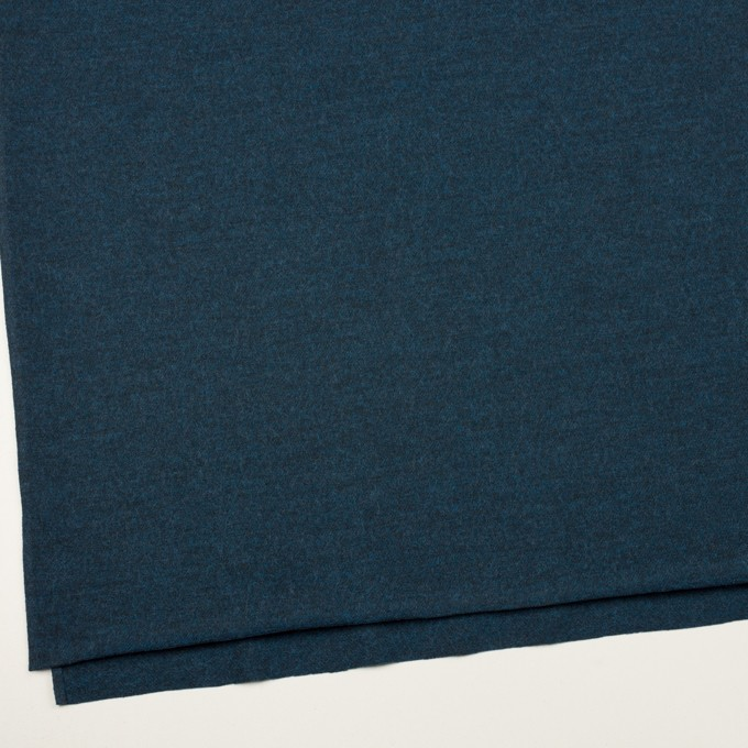 ウール&ポリエステル混×ミックス(インクブルー)×圧縮ニット イメージ2