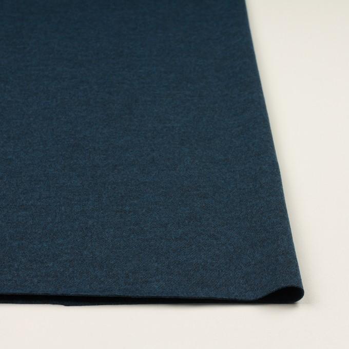 ウール&ポリエステル混×ミックス(インクブルー)×圧縮ニット イメージ3