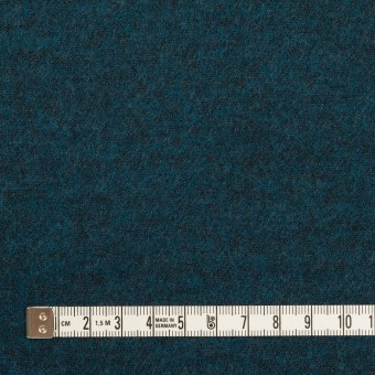 ウール&ポリエステル混×ミックス(インクブルー)×圧縮ニット サムネイル4