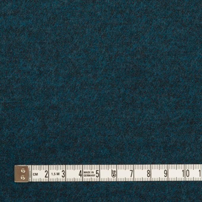 ウール&ポリエステル混×ミックス(インクブルー)×圧縮ニット イメージ4