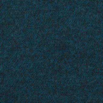 ウール&ポリエステル混×ミックス(インクブルー)×圧縮ニット