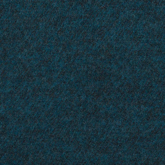 ウール&ポリエステル混×ミックス(インクブルー)×圧縮ニット イメージ1