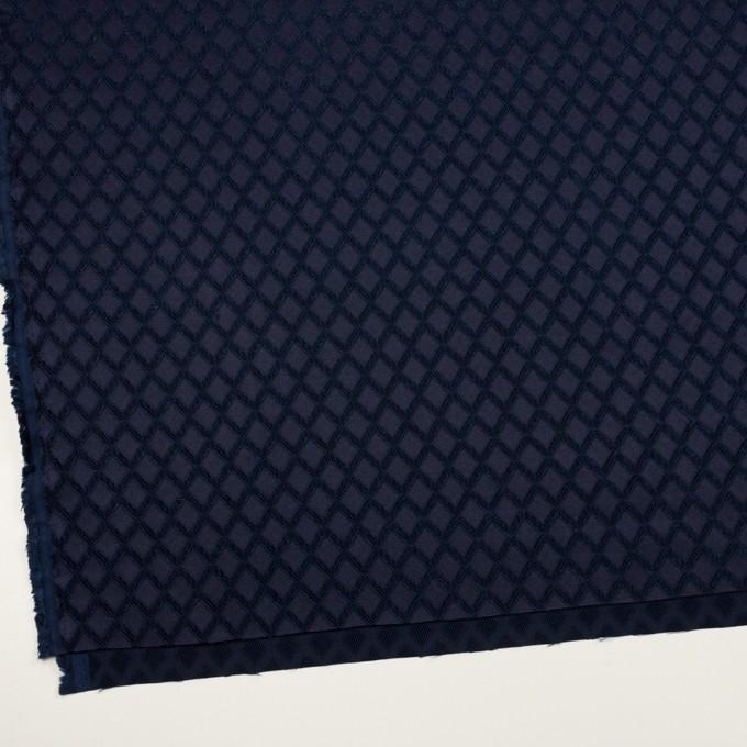 ポリエステル×ダイヤ(プルシアンブルー)×サテンジャガード・ストレッチ イメージ2