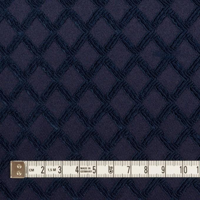 ポリエステル×ダイヤ(プルシアンブルー)×サテンジャガード・ストレッチ イメージ4
