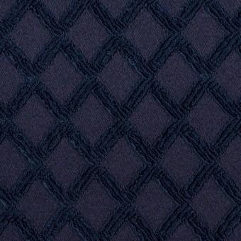ポリエステル×ダイヤ(プルシアンブルー)×サテンジャガード・ストレッチ