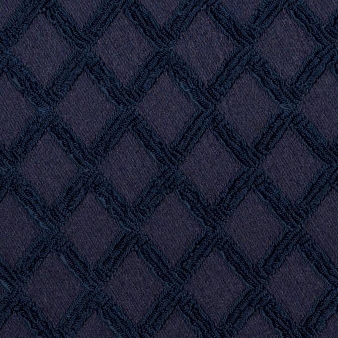 ポリエステル×ダイヤ(プルシアンブルー)×サテンジャガード・ストレッチ イメージ1
