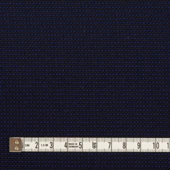 コットン&ポリエステル×ミックス(マリンブルー&ダークネイビー)×かわり織 サムネイル4