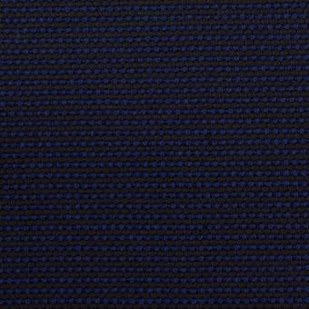 コットン&ポリエステル×ミックス(マリンブルー&ダークネイビー)×かわり織