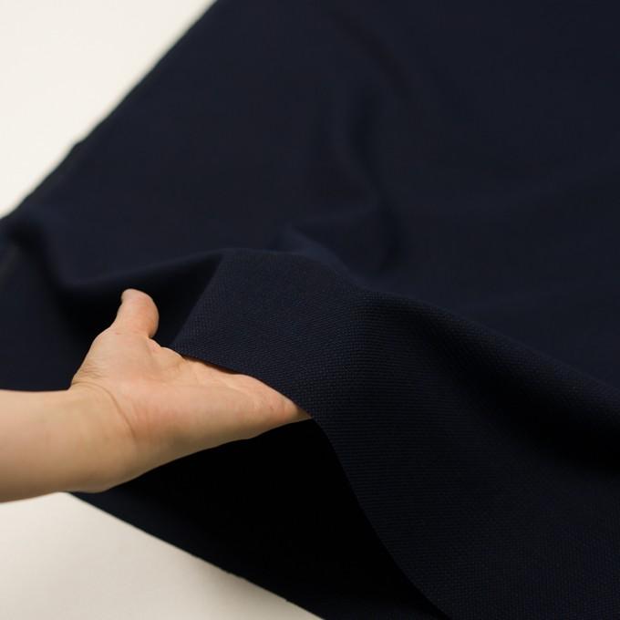 コットン&ポリエステル×ミックス(マリンブルー&ダークネイビー)×かわり織 イメージ5