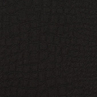 ポリエステル×クロコ(ブラック)×フクレジャガード