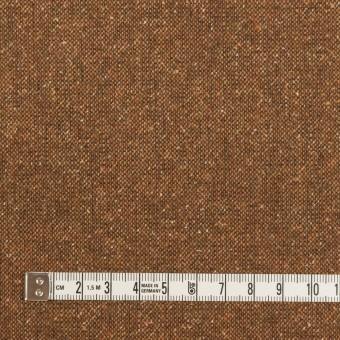 ウール&ポリエステル混×ミックス(マロン)×ツイードストレッチ_全2色_イタリア製 サムネイル4