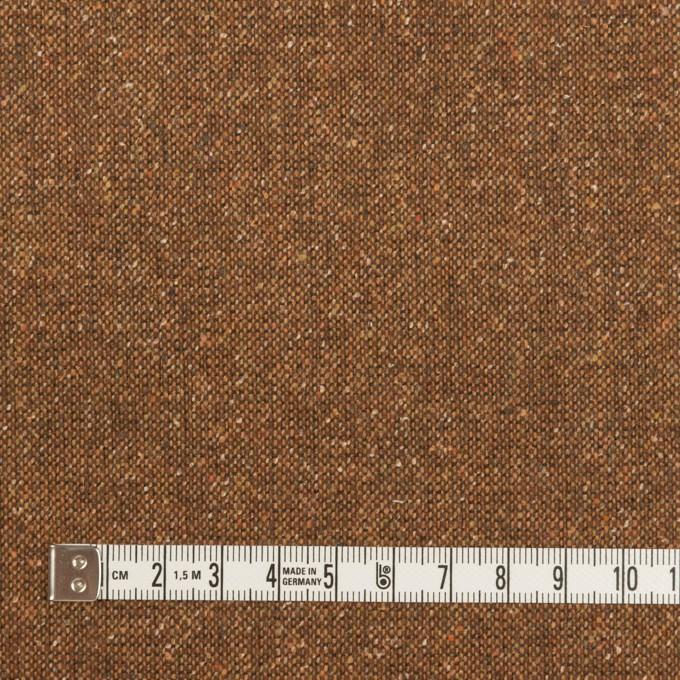 ウール&ポリエステル混×ミックス(マロン)×ツイードストレッチ_全2色_イタリア製 イメージ4