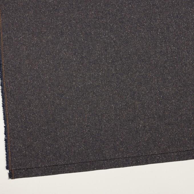 ウール&ポリエステル混×ミックス(アッシュネイビー)×ツイードストレッチ_全2色_イタリア製 イメージ2