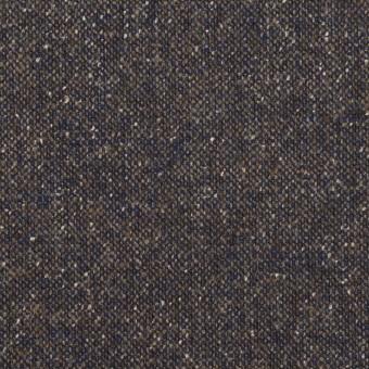 ウール&ポリエステル混×ミックス(アッシュネイビー)×ツイードストレッチ_全2色_イタリア製
