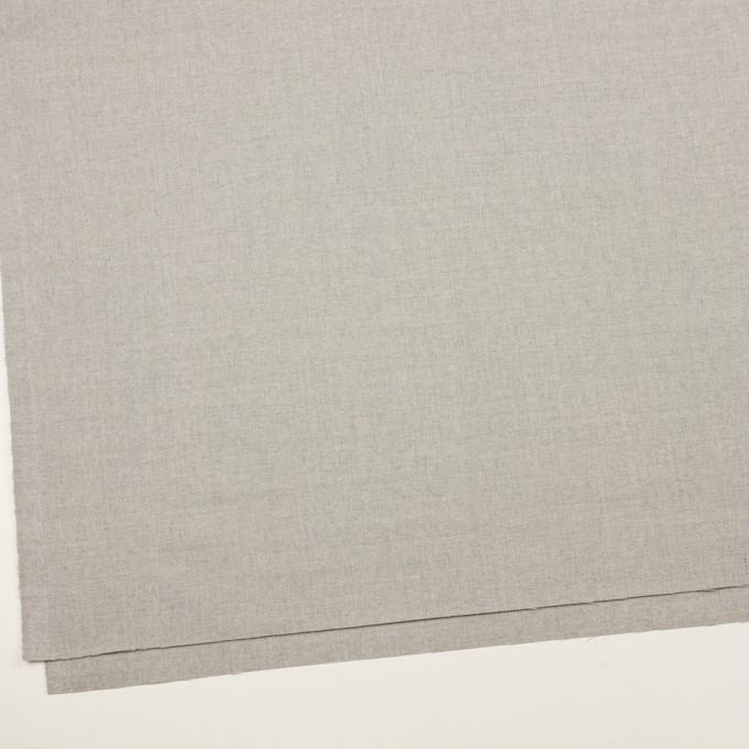 ウール&ポリウレタン×無地(ライトグレー)×サージストレッチ イメージ2