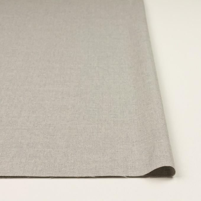 ウール&ポリウレタン×無地(ライトグレー)×サージストレッチ イメージ3