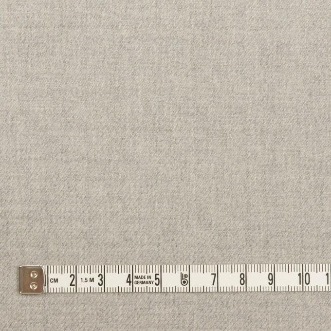 ウール&ポリウレタン×無地(ライトグレー)×サージストレッチ イメージ4