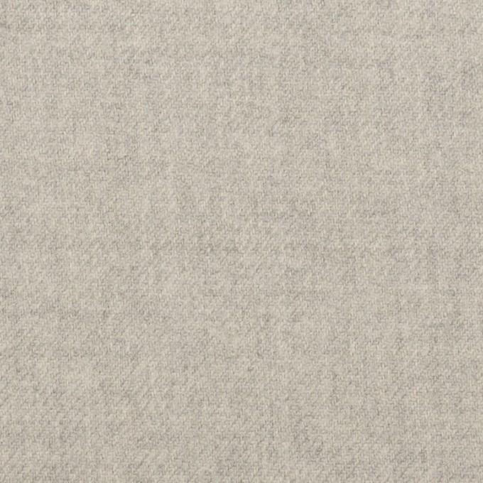 ウール&ポリウレタン×無地(ライトグレー)×サージストレッチ イメージ1